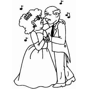 Dancers In Love coloring page