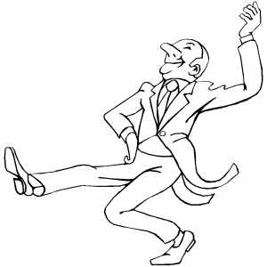 Funny Man Dancing coloring page