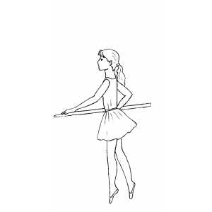 Girl Dancing With Stick coloring page