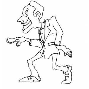 Man Modern Dancing coloring page