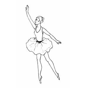 Pointing Top Ballet Move coloring page