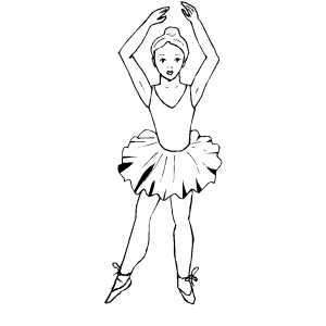 Professional Ballet coloring page