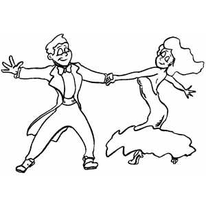 tango dance coloring page