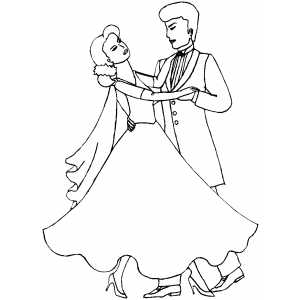 Waltz Dance coloring page