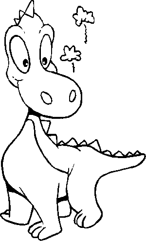 Dinosaur Kid Playing coloring page