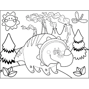 Dinosaur Triceratops coloring page