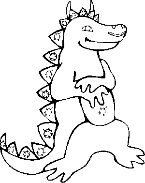 Happy Dinosaur coloring page