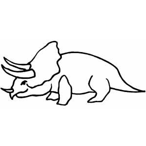 Triceratops coloring page
