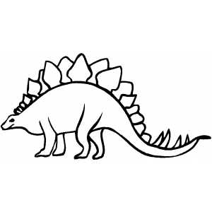 Walking Stegosaurus coloring page