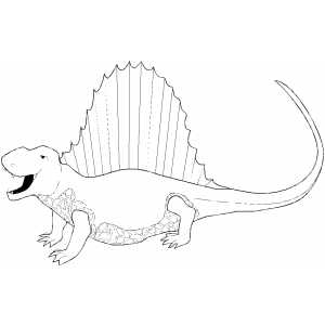 Yelling Spinosaurus coloring page