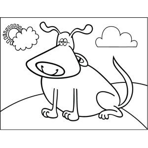 Bored Dog coloring page