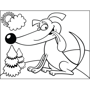 Cheeky Dog coloring page