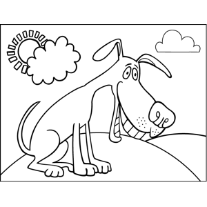 Chomping Dog coloring page