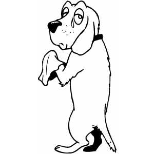 Crying Dog coloring page