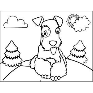 Cute Irish Setter coloring page