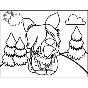 Cute Shaggy Terrier coloring page