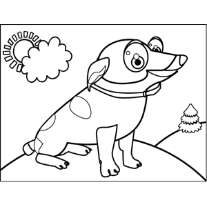Cute Spotted Pup coloring page