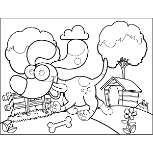 Dog Googly Eyes coloring page