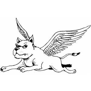 Dog With Wings coloring page