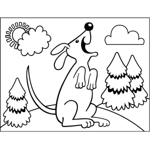 Dog on Hind Legs coloring page