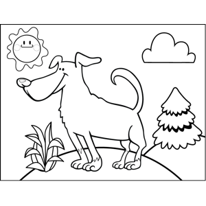 Eager Dog coloring page