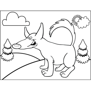Excited Dog coloring page