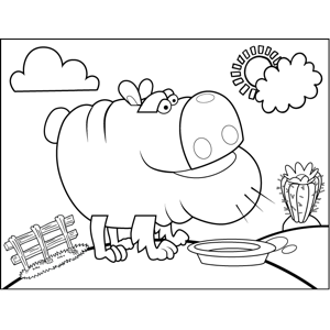 Fat Wrinkled Dog coloring page