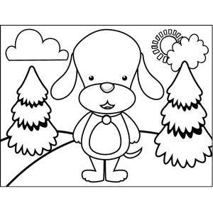 Floppy-Eared Dog coloring page