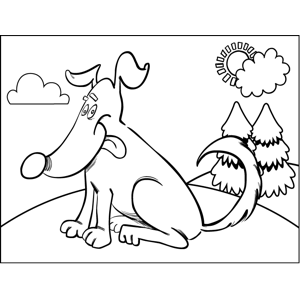 Friendly Dog coloring page