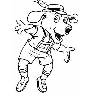 German Dog coloring page