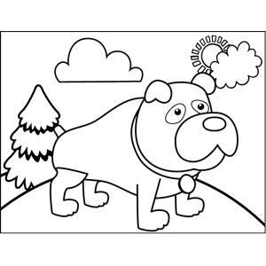Gruff Dog coloring page