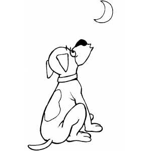 Howling Dog coloring page