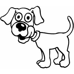 Licking Puppy coloring page