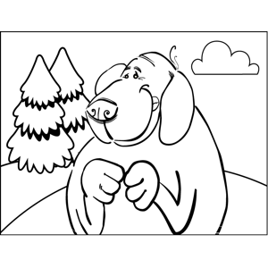 Plotting Dog coloring page