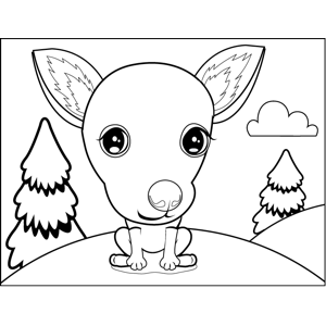 Pretty Chihuahua coloring page