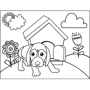 Prowling Puppy coloring page