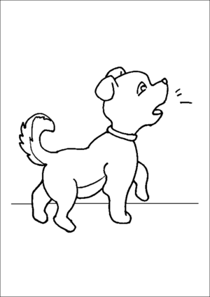 Puppy Barking coloring page
