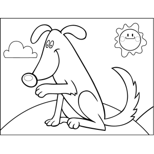 Shaking Dog coloring page