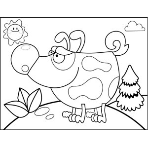 Short Spotted Dog coloring page