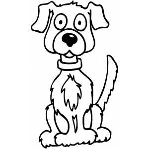 Sitting Dog coloring page