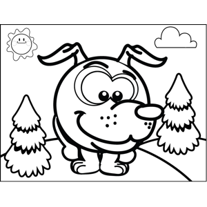 Sly Dog coloring page