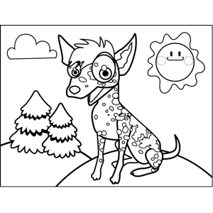 Spotted Dog coloring page
