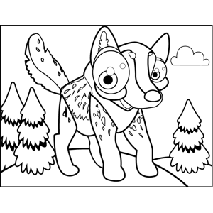 Spotted Wolf Pup coloring page