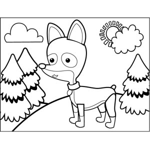 Standing Chihuahua coloring page
