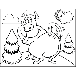Wagging Dog coloring page