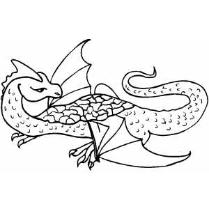 Angry Flying Dragon coloring page