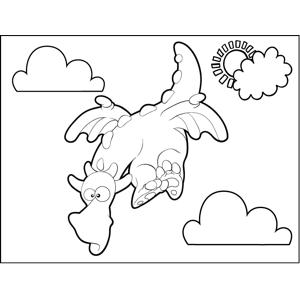 Diving Dragon coloring page