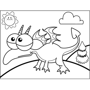 Dragon Monster coloring page