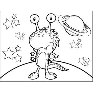 Dragon Monster with Spots coloring page