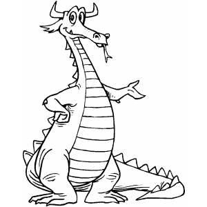 Dragon Presenting coloring page
